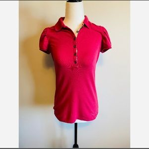 Burberry Brit Pink Polo T-shirt Size Small